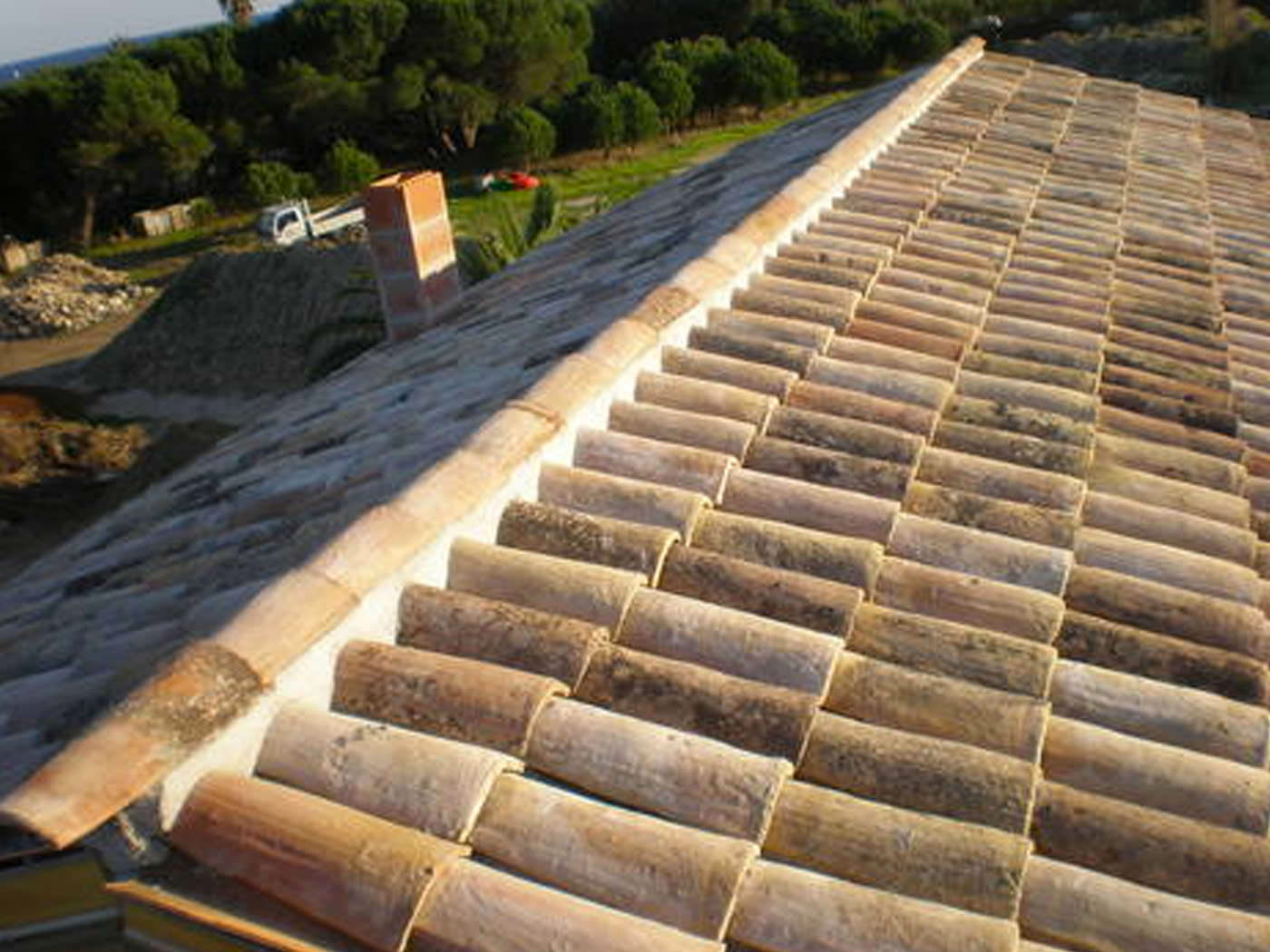 Installation couverture tuiles